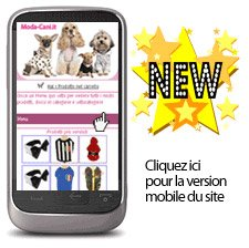Version mobile du site Vetement-Chiens.fr